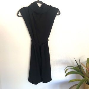 Zara | black high neck dress